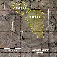 Geochemical Concentration Areas located at Sombrero Butte